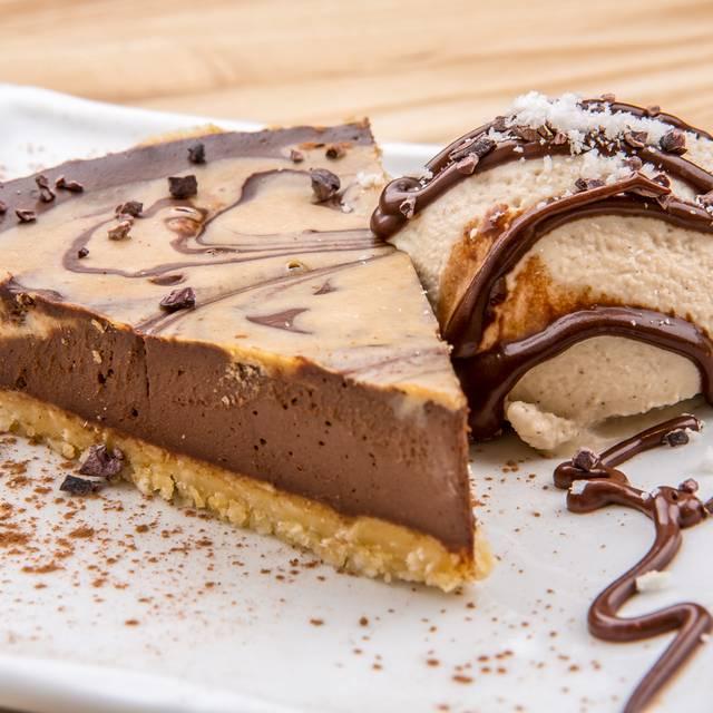Chocolate Caramel Pie With Vanilla Ice Cream - Rawtopia Living Cuisine and Beyond, Millcreek, UT