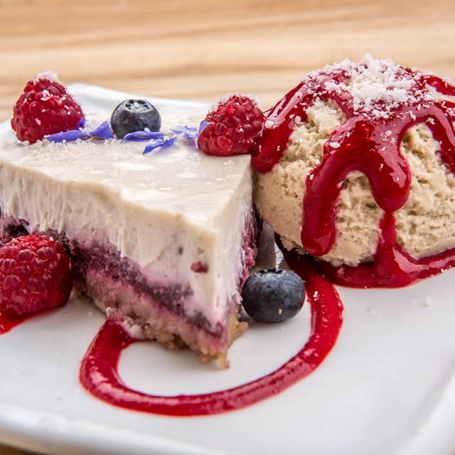 Berry Cheesecake With Vanilla Ice Cream - Rawtopia Living Cuisine and Beyond, Millcreek, UT