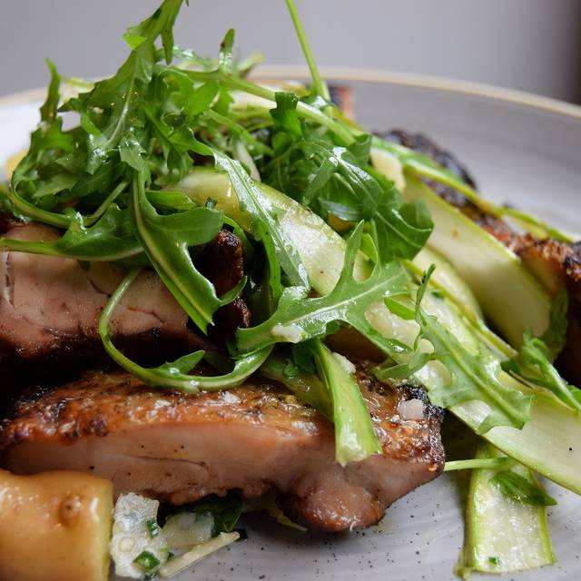 Spiced Chicken Free Range Thighs Off The Bone Warm New Potato Salad, Asparagus, Rocket, Lemon & Parmesan - Photo By Simon Burrell - The Jones Family Project, London