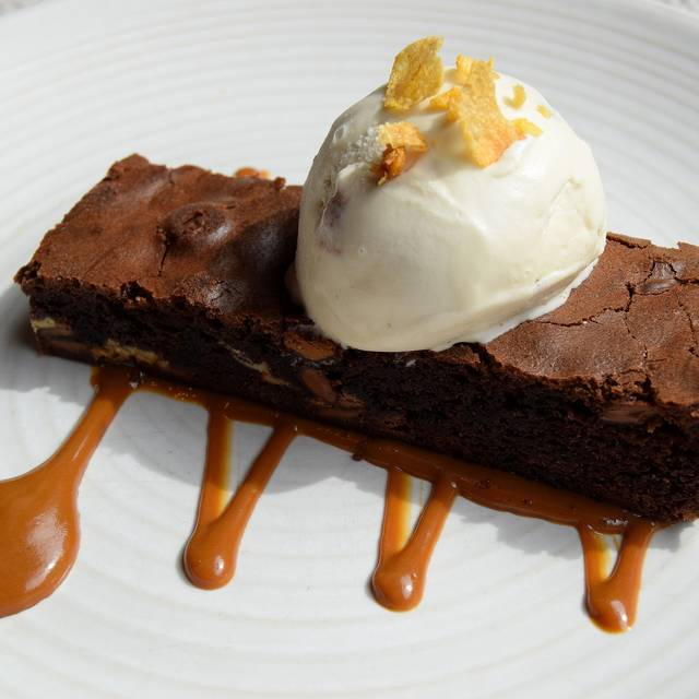 Anna's Triple Chocolate Brownie With Malted Cornflake Gelato - Photo By Simon Burrell - The Jones Family Kitchen, London