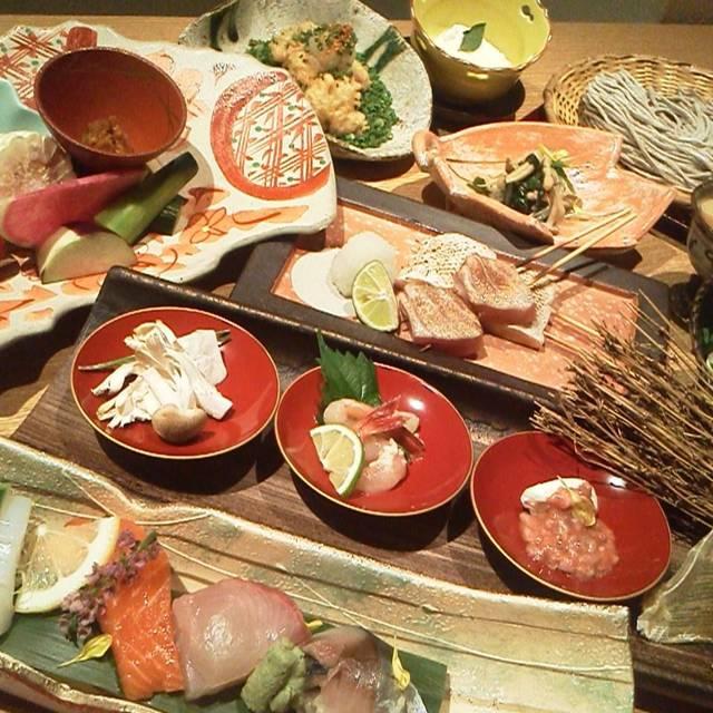 旬食材の大皿宴コース - ぬる燗 佐藤, 港区, 東京都