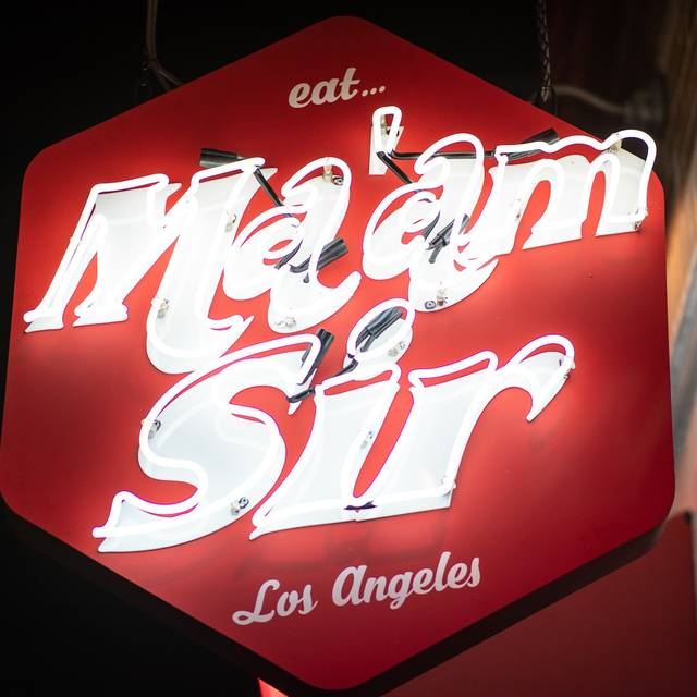 Exterior sign - Ma'am Sir, Los Angeles, CA