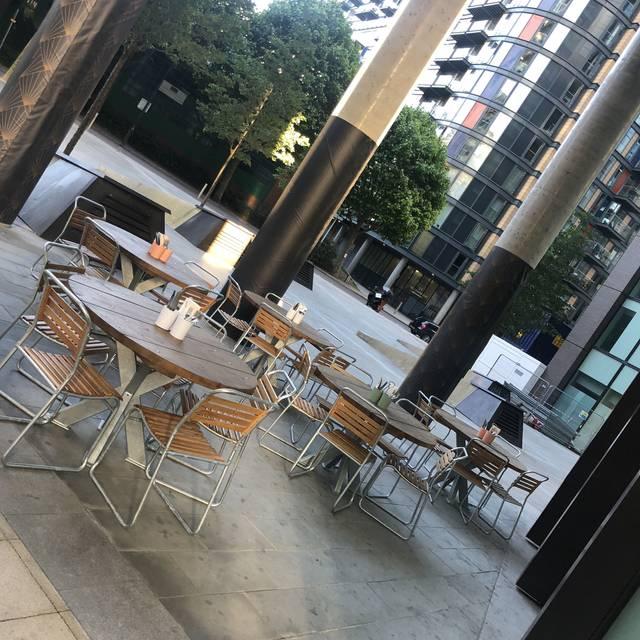 Outside - TapaVino Lincoln Plaza, London