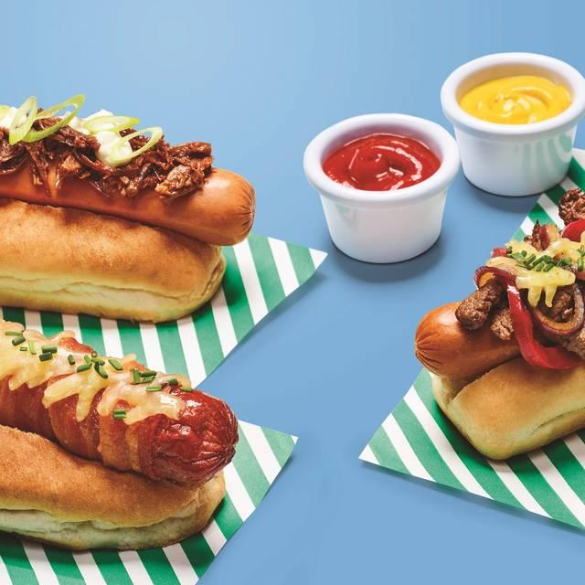F B - Day Three Hot Dogs  F Blue - Frankie & Benny's - Clarks Village, Street, Somerset