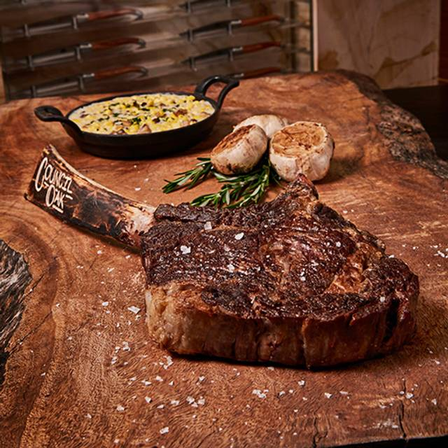 Council Oak Long Bone Cowboy Ribeye - Council Oak Steaks & Seafood – Seminole Hard Rock Hotel & Casino Tampa, Tampa, FL