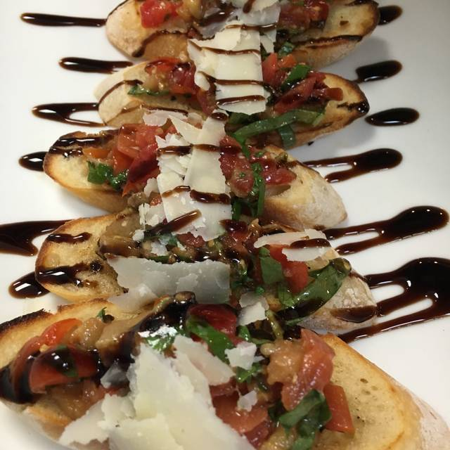 Roasted Eggplant Bruschetta - Trezeros Kitchen and Tap, Mount Prospect, IL