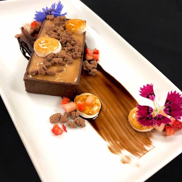 Chocolate peanutbutter tart - Kauffman Center Dining Experience, Kansas City, MO