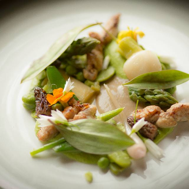 Calf Sweetbread - Morels - Asparagus - Fiddle Heads - Chez Muffy, Quebec, QC