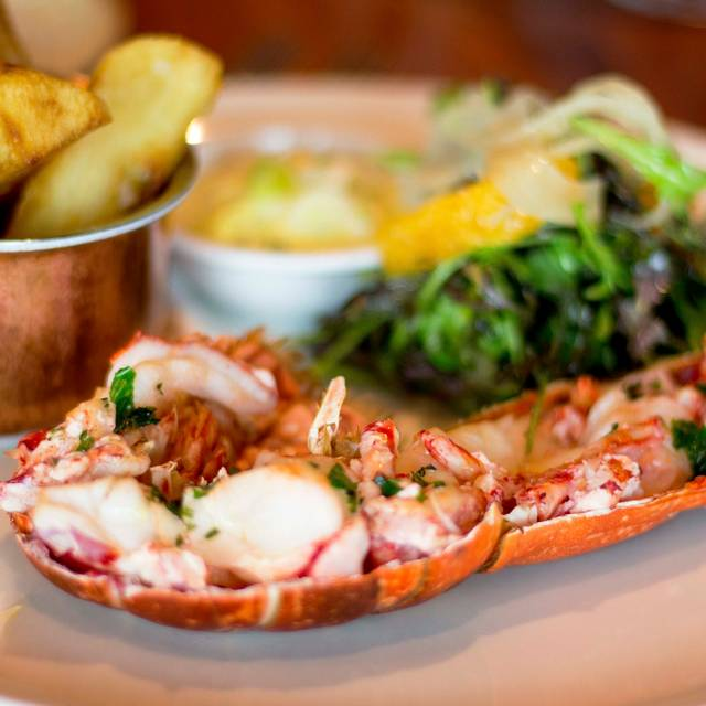 Half Grilled Lobster, Basil And Saffron Emulsion, Triple Cooked Chips, Pickled Fennel And Orange Salad - Suesey Street, Dublin, Co. Dublin