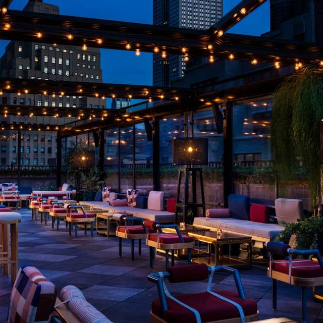 East Patio Dusk- - Magic Hour Rooftop Bar & Lounge, New York, NY