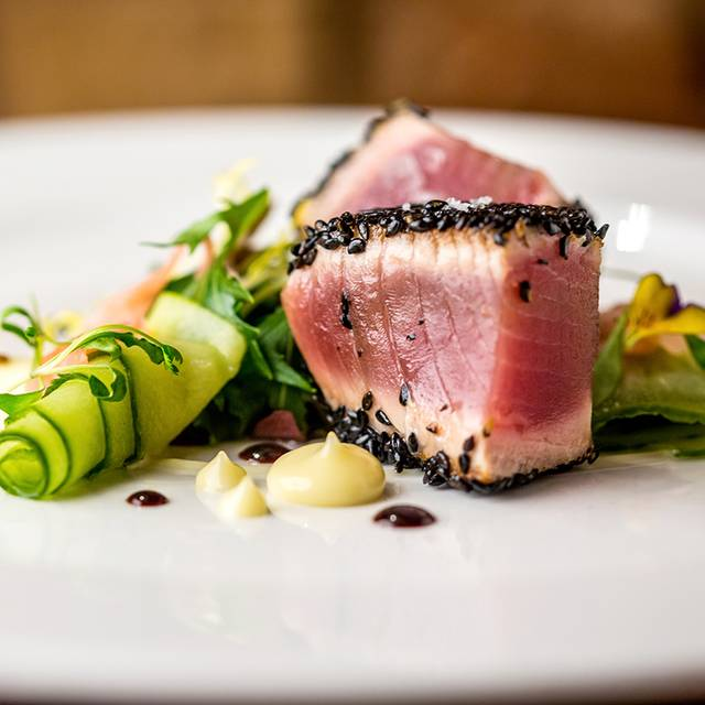 Seared-tuna-pickled-cucumber-wasabi-pink-ginger - Anderson's Bar & Grill, Birmingham, West Midlands