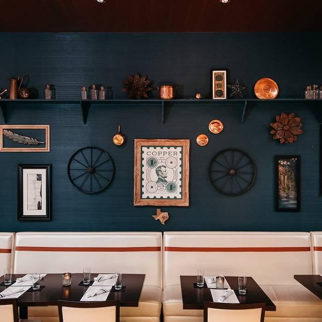 Copper-dining-room - Copper Restaurant and Dessert Lounge - Domain, Austin, TX