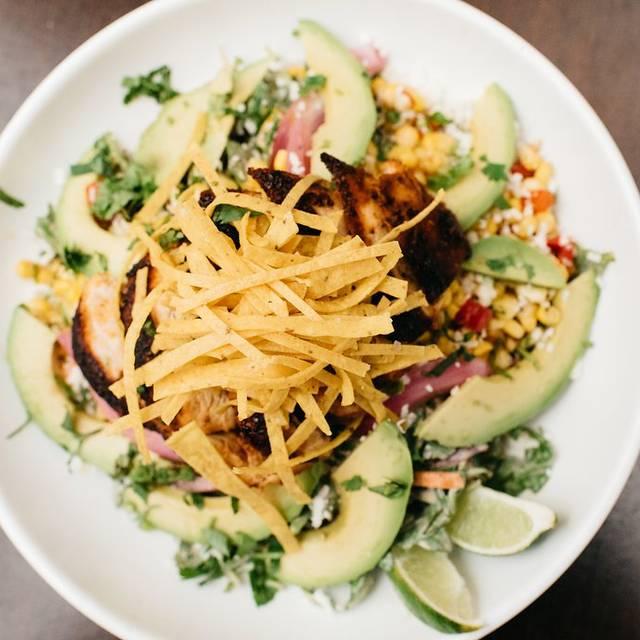 Street-corn-chicken-salad - Copper Restaurant and Dessert Lounge - Domain, Austin, TX
