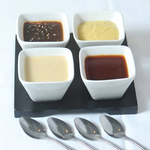 Signature Homemade Sauces Bernaise And Whiskey Peppercorn And Gorgonzola Cream And Soy Beurre Blanc - Kinzie Chophouse, Chicago, IL