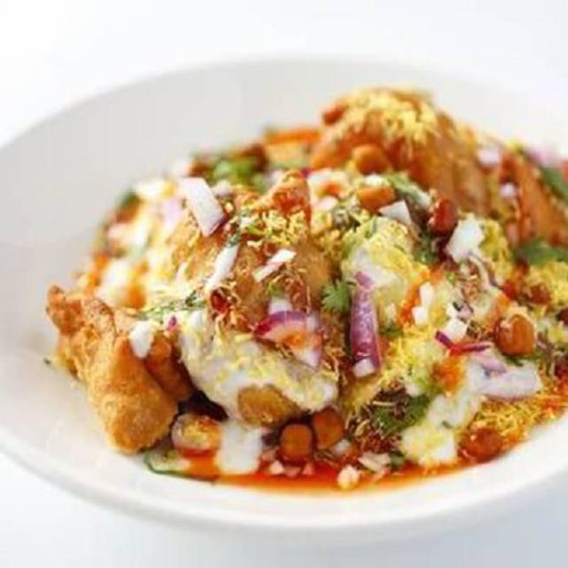 Samosa-chaat-pic- - Maezo Modern Indian Cuisine, Toronto, ON