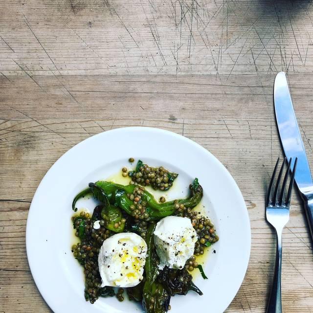 Mozarella, Umbrian Lentils & Frigatelli Peppers - Rawduck, London
