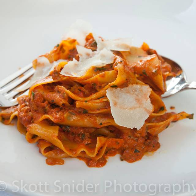 Bolognese:  Fire-roasted tomato sauce, lamb, cream - 208 Rodeo, Beverly Hills, CA