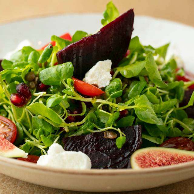 Watercress, beetroot and goat's cheese salad. - Bocconcino, London