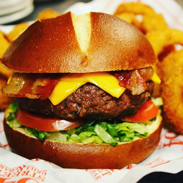 All American Pretzel Burger - 54th Street Restaurant & Drafthouse - Lewisville, Lewisville, TX