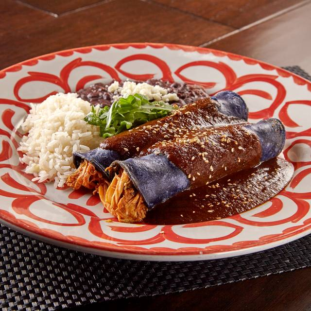 Mm Blue Corn Mole Poblano Enchilada - Meso Maya - Ft. Worth, Fort Worth, TX