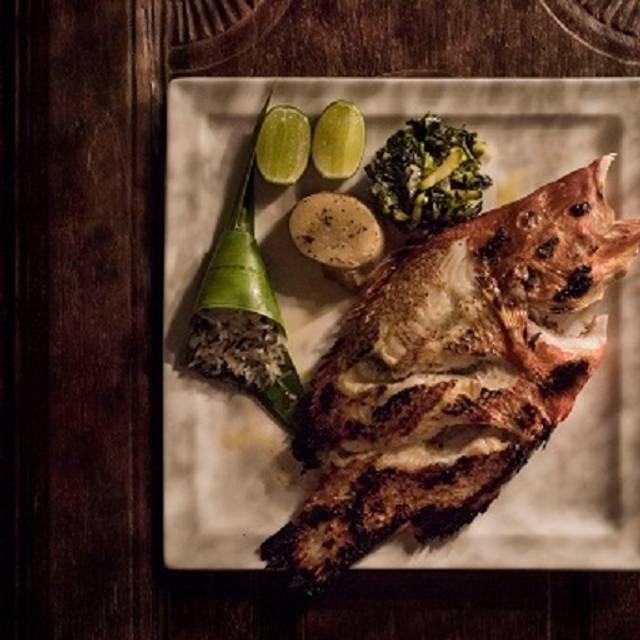 Whole Fresh Fish On The Grill - Pandano, Tulum, ROO