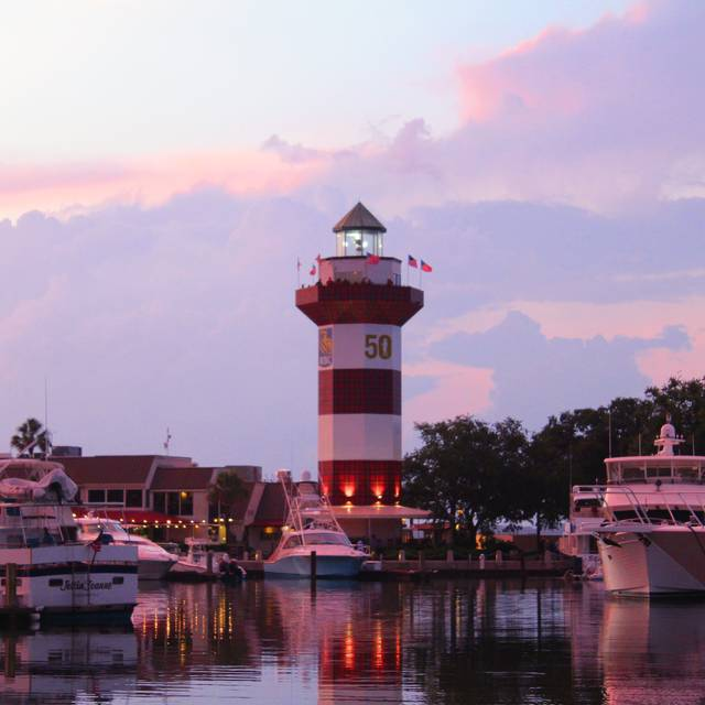 Sunset Lighthouse Quarterdeck - Quarterdeck Waterfront Dining, Hilton Head Island, SC