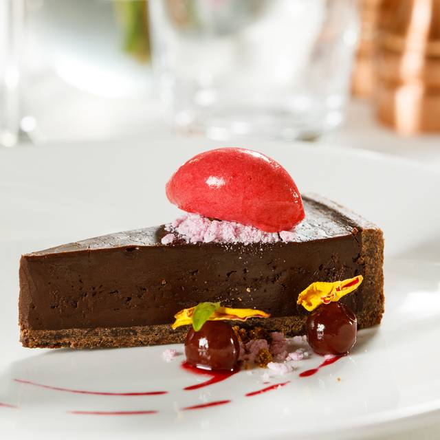 Dark Chocolate Tart With Raspberry Sorbet - Suesey Street, Dublin, Co. Dublin