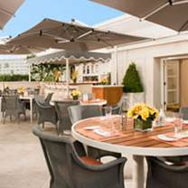 photo of the roof garden at the peninsula beverly hills restaurant