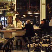 photo of blue seafood bar restaurant