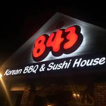 photo of 843 korean bbq & sushi house restaurant