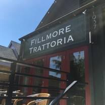 photo of fillmore trattoria restaurant