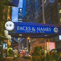 photo of faces and names restaurant