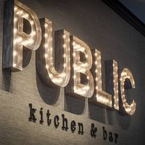photo of public kitchen and bar restaurant