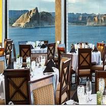 photo of rainbow room at lake powell resorts and marinas restaurant