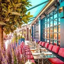 photo of j sheekey outside terrace at the atlantic bar restaurant