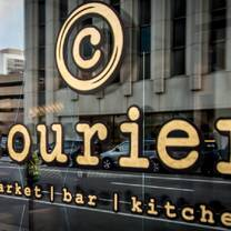 photo of courier. restaurant