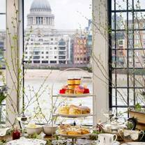photo of afternoon tea @ swan, shakespeare's globe restaurant