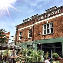 photo of the grove in ealing restaurant