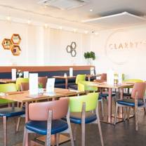 photo of afternoon tea at clarry's restaurant