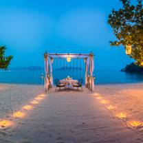 photo of romantic beachfront dining restaurant