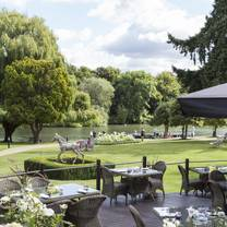 photo of the terrace at the oakley court restaurant