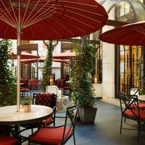 photo of the garden at corinthia london restaurant