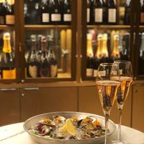 photo of coffee oysters champagne restaurant