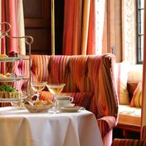photo of afternoon tea in the park lounge at the milestone hotel restaurant