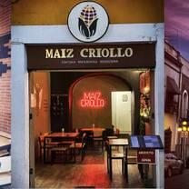 foto de restaurante maiz criollo