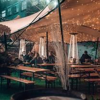photo of the backyard, outdoor, at bermondsey bar & kitchen restaurant