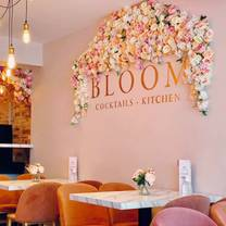 photo of bloom hanley restaurant