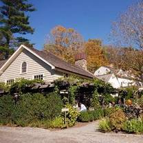 photo of the farmhouse and the barn at the bedford post inn restaurant