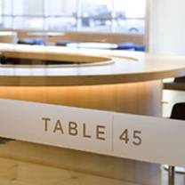 photo of table 45 restaurant