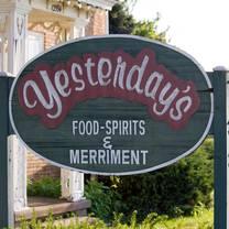 photo of yesterday's food & spirits restaurant